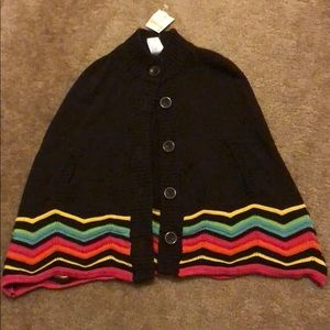 GYMBOREE Girl size 5-6 poncho sweater!! Very cute!